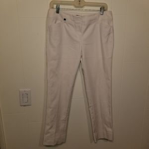 WHBM women's perfect form slim ankle white pants